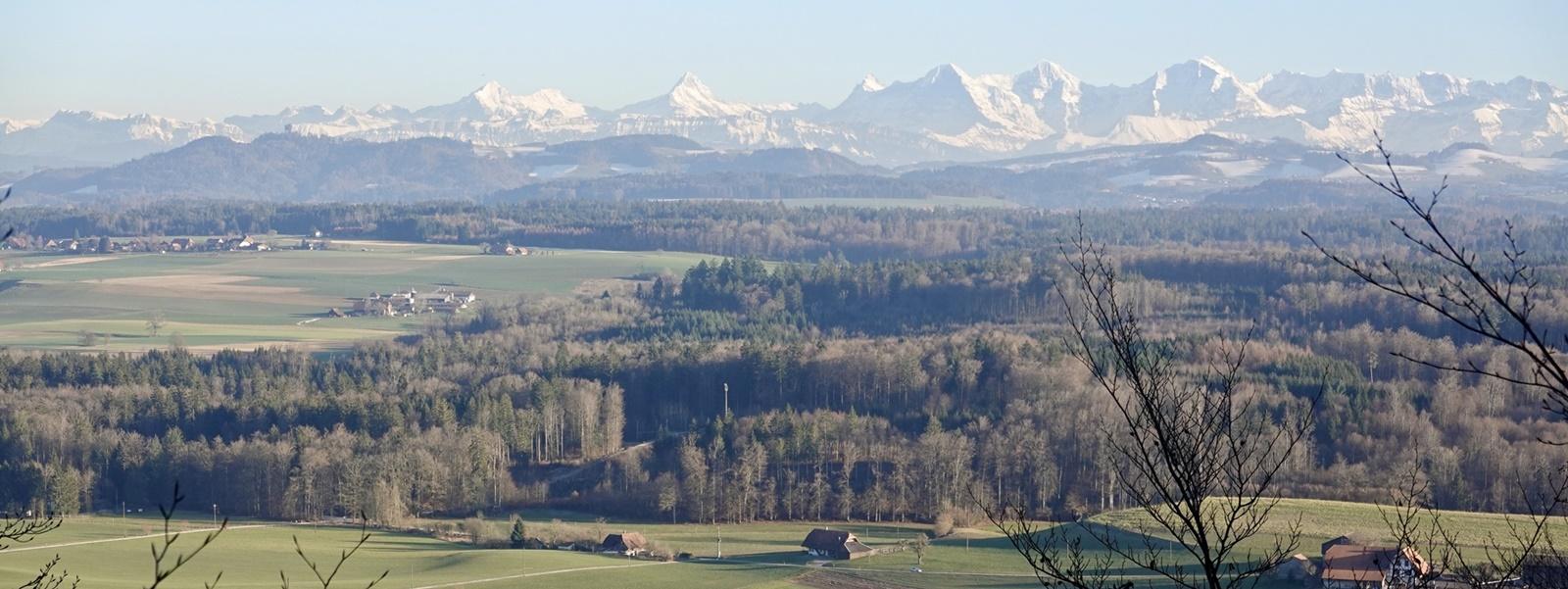 Sicht auf Berner Alpen